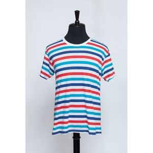 Red, White & Blue Striped Tee (Item No. 369)